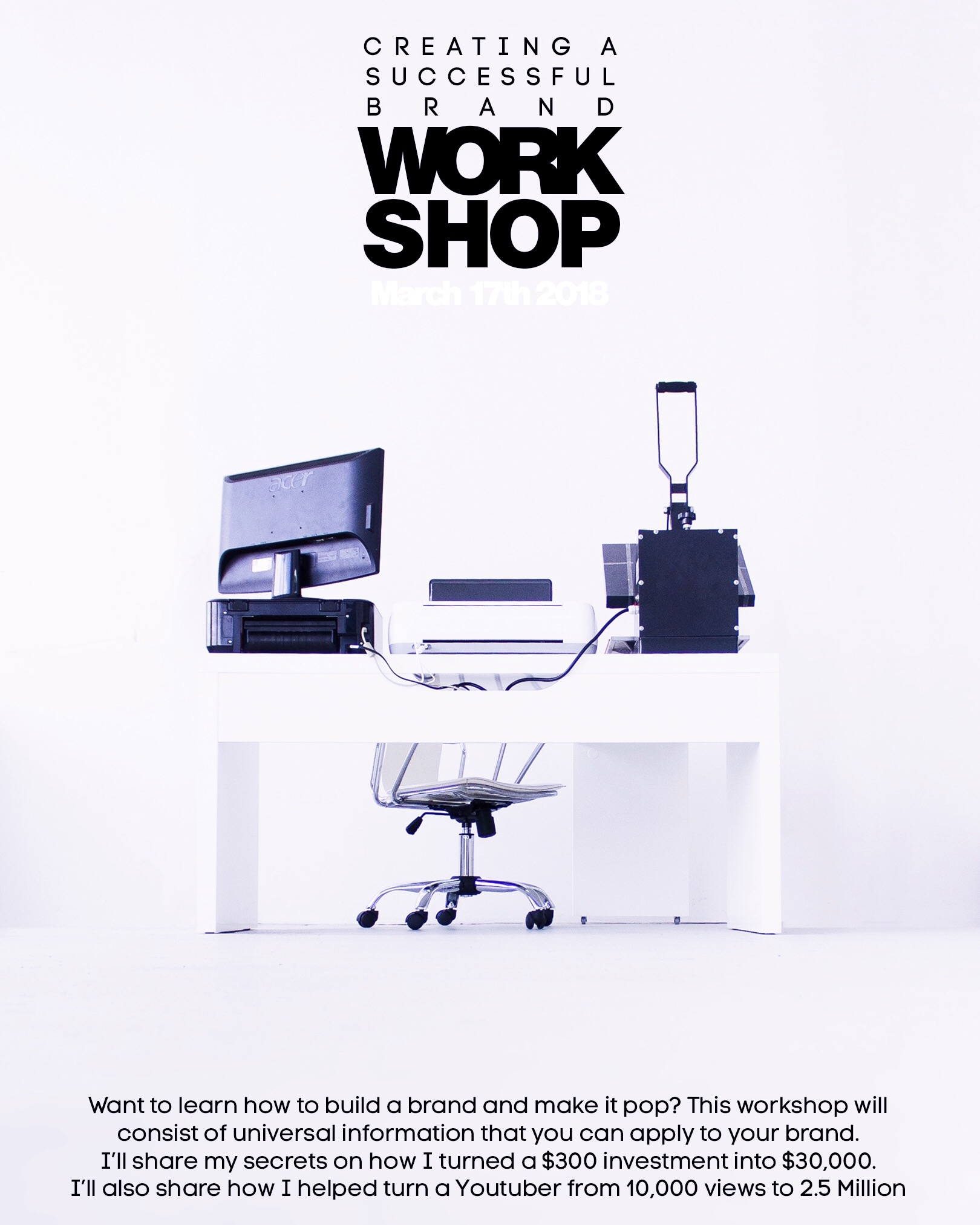 Unity Design Workshop - March 17th – Create A Successful Brand